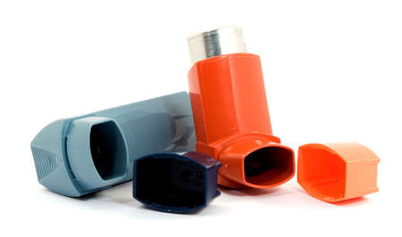medicine spray for treating asthma isolated