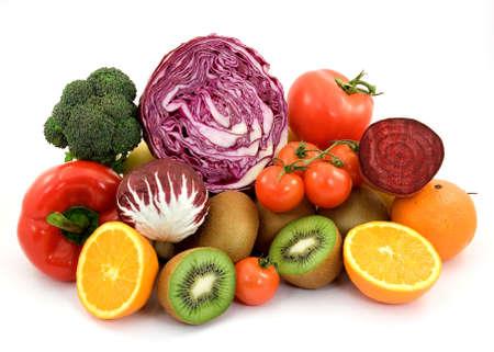 organic food: diet healthy food studio isolated Stock Photo
