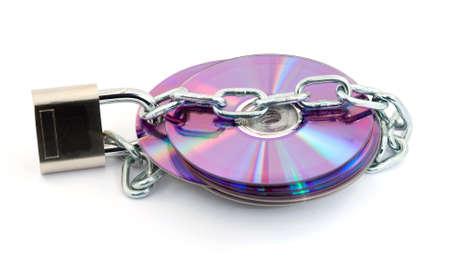 padlock protecting digital data, security concept Stock Photo - 2811789