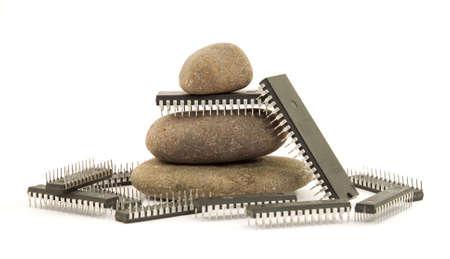 de la edad de piedra a la tecnolog�a moderna Foto de archivo - 2811904