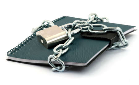 book locked with padlock and chains Stock Photo - 2812285