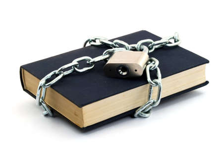 book locked with padlock and chains Stock Photo - 2812326
