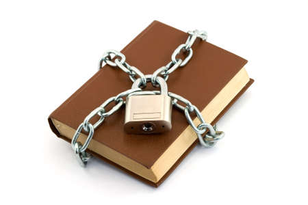 book locked with padlock and chains Stock Photo - 2812076
