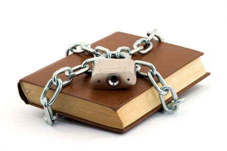 book locked with padlock and chains Stock Photo - 2812196
