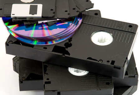 digital data storage media studio isolated photo