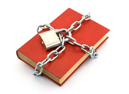 book locked with padlock and chains Stock Photo - 2812321