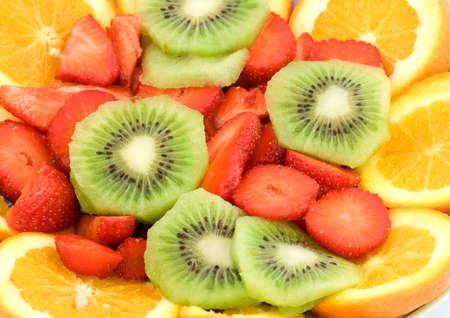 sliced fresh fruit studio isolated photo
