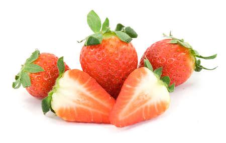 delicious strawberries fruit studio isolated photo