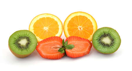 sliced fresh fruit studio isolated Stock Photo - 2826765