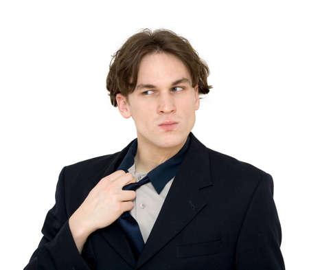 sucessful: sucessful businessman posing, studio isolated