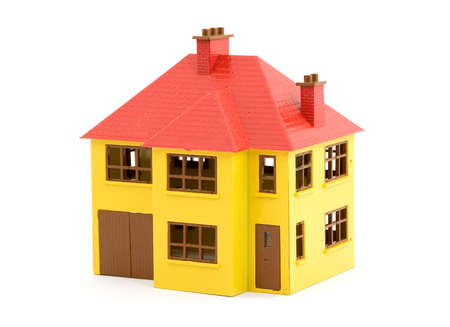 plastic house model studio isolated Stock Photo - 2834668