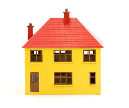 plastic house model studio isolated Stock Photo - 2834855