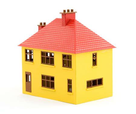 plastic house model studio isolated Stock Photo - 2834805