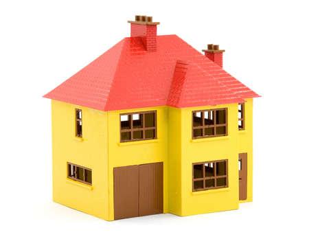 plastic house model studio isolated photo