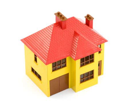 plastic house model studio isolated Stock Photo - 2834804