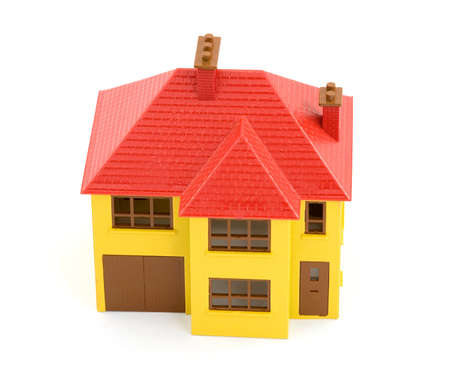 plastic house model studio isolated Stock Photo - 2834139