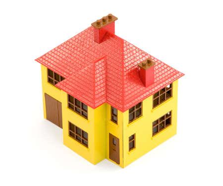 plastic house model studio isolated Stock Photo - 2835001