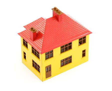 plastic house model studio isolated Stock Photo - 2834796