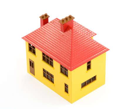 plastic house model studio isolated Stock Photo - 2834873