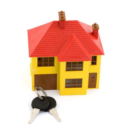 apartmant: house model and keys studio isolated