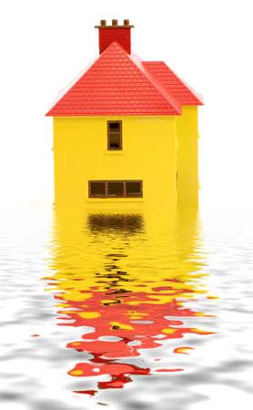 apartmant: plastic house model studio isolated