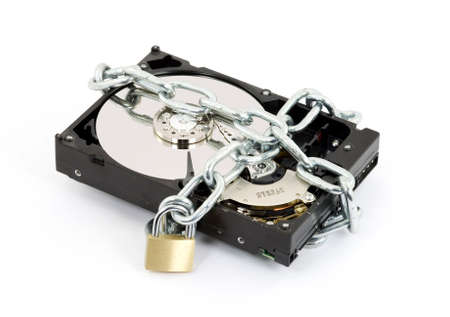 secure backup: data security concept studio isolated