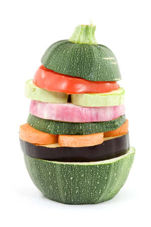 mixed vegetable salad - burger studio isolated photo