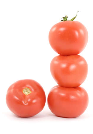 tomato vegetable studio isolated over white