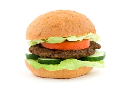 diet food concept - hamburger studio isolated Stock Photo