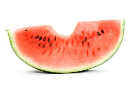 sliced watermelon: watermelon studio isolated over white