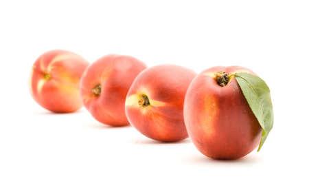 peaches studio isolated over white Stock Photo