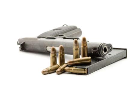 pistol studio isolated over white photo