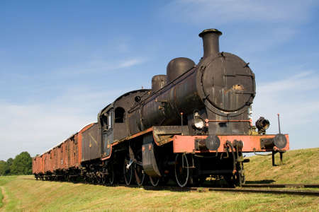 steam train engine in the countryside Stock Photo - 3326429