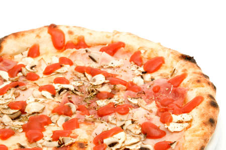 pizza studio isolated over white photo
