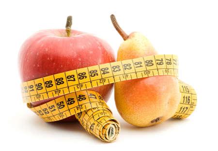 diet fruit studio isolated over white Stock Photo - 3638304