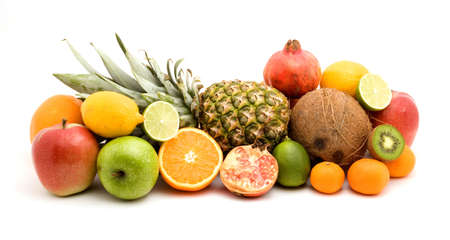 fruit pile studio isolated over white Stock Photo - 3712312