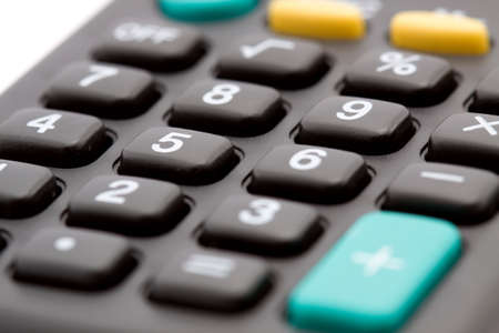 macro studio shot of calculator keyboard Stock Photo - 3837756