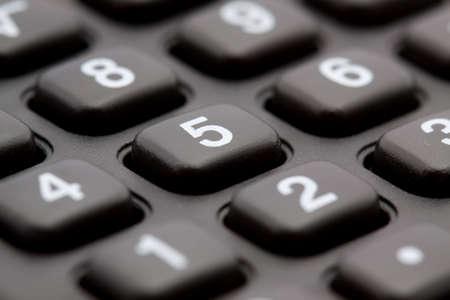 macro studio shot of calculator keyboard Stock Photo - 3837751