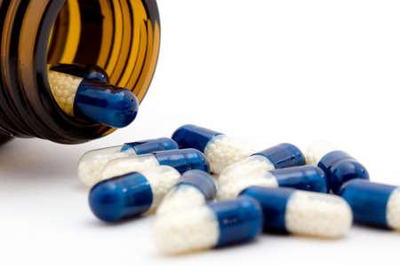 pills studio isolated over white Stock Photo - 3932153