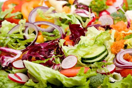 mixed vegetables: fresh mixed vegetable salad studio shots