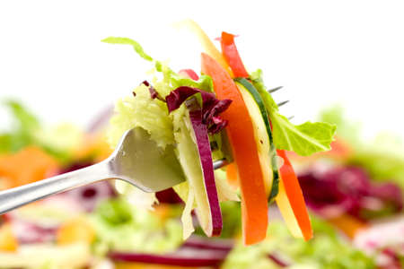 fresh mixed vegetable salad studio shots photo