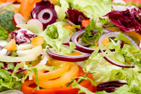 fresh mixed vegetable salad studio shots Stock Photo - 3991120