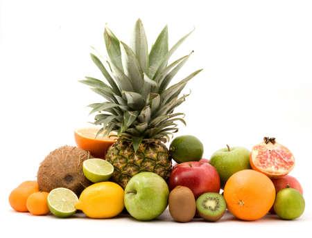 fruit pile studio isolated over white Stock Photo - 4308035