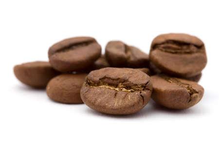 coffee grains: closeup studio shot of coffee beans