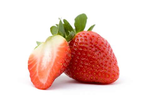 strawberry fruit studio isolated over white Stock Photo