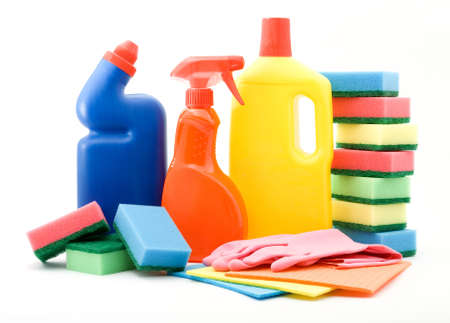 cleaning and sanitation products studio isolated Stock Photo - 4308068
