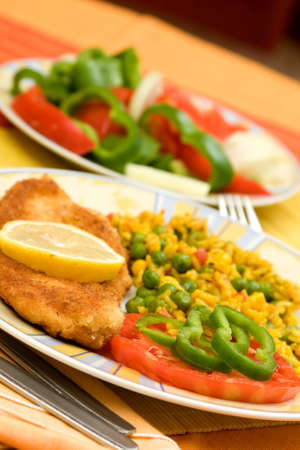 delicious food in a plate on the table Stock Photo