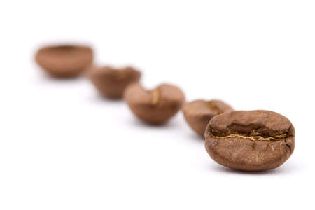 closeup studio shot of coffee beans