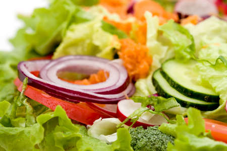 green salad: fresh mixed vegetable salad studio shots