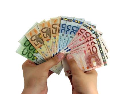 euro money banknotes studio isolated photo